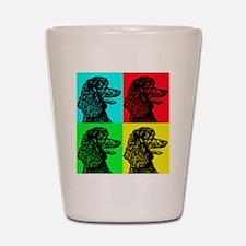 Poodle Pop Art Shot Glass