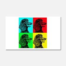 Poodle Pop Art Car Magnet 20 x 12