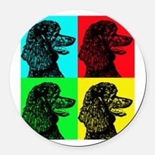 Poodle Pop Art Round Car Magnet