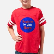 2-Register to Vote Youth Football Shirt