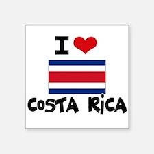 I HEART costa rica FLAG Sticker