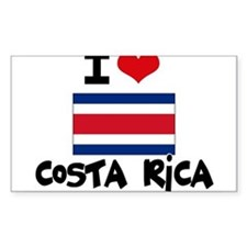 I HEART costa rica FLAG Decal
