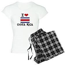 I HEART costa rica FLAG Pajamas
