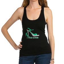 Pole Dance Girl Green Racerback Tank Top