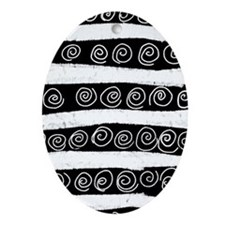 Gothic Easter Eggs Ornament (Oval)