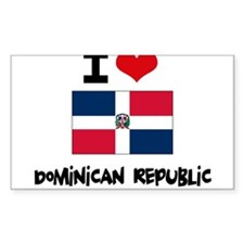 I HEART DOMINICAN REPUBLIC FLAG Decal
