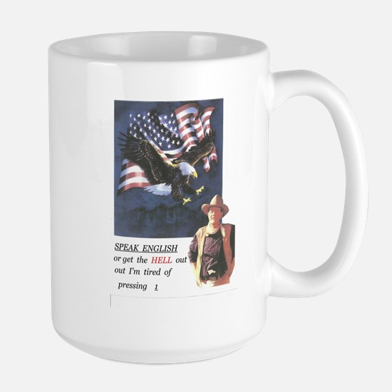 John Wayne ,patriotic, speak english Mug