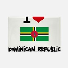 I HEART DOMINICAN REPUBLIC FLAG Rectangle Magnet