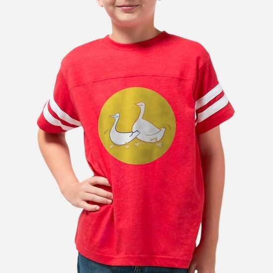 happy gooses yellow Youth Football Shirt