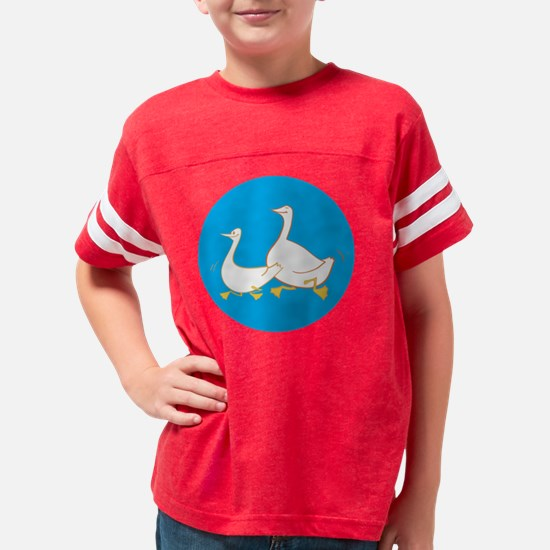 happy gooses blue Youth Football Shirt