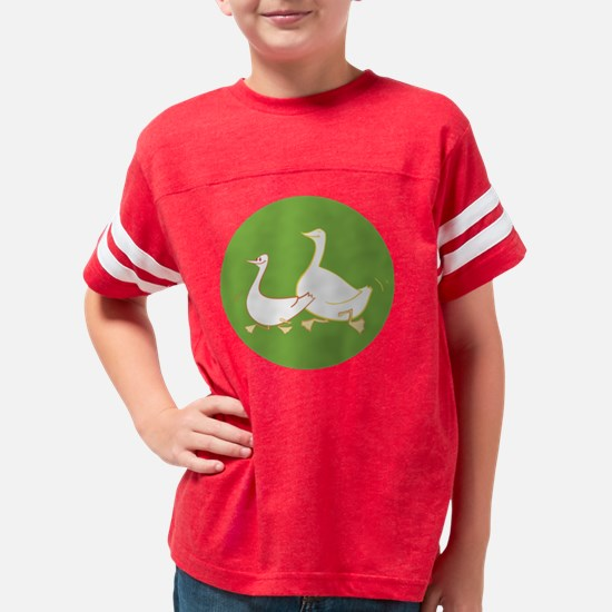 happy gooses green Youth Football Shirt