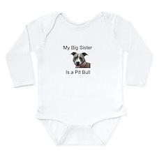 Pit Bull Big Sister Long Sleeve Infant Bodysuit