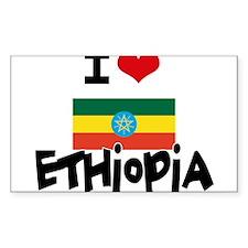 I HEART ETHIOPIA FLAG Decal