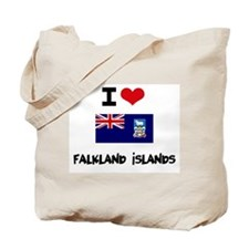 I HEART FALKLAND ISLANDS FLAG Tote Bag