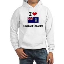 I HEART FALKLAND ISLANDS FLAG Hoodie