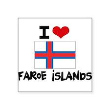 I HEART FAROE ISLANDS FLAG Sticker