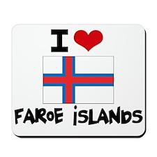 I HEART FAROE ISLANDS FLAG Mousepad
