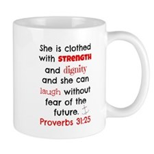 Proverbs 31:25 Mugs