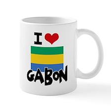 I HEART GABON FLAG Mug