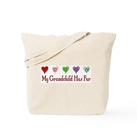 Furry Grandchild Tote Bag