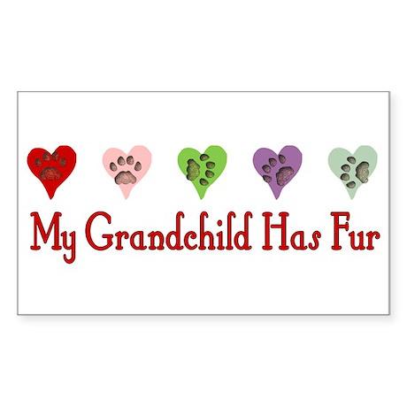 Furry Grandchild Rectangle Sticker