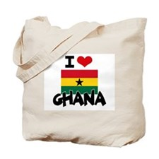 I HEART GHANA FLAG Tote Bag