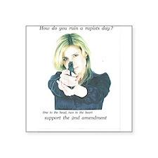 rapist beware, 2nd amendment Sticker