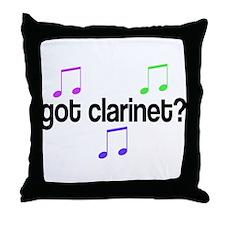 Got Clarinet Throw Pillow
