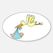 Stork Delivering a Baby Decal