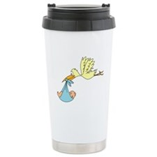 Stork Delivering a Baby Travel Mug