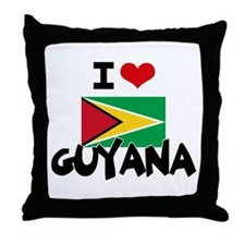 I HEART GUYANA FLAG Throw Pillow