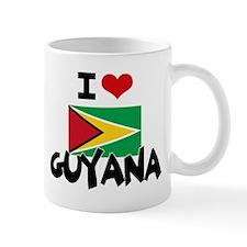 I HEART GUYANA FLAG Mug
