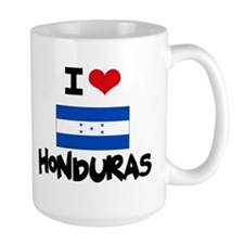 I HEART HONDURAS FLAG Mug