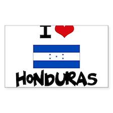I HEART HONDURAS FLAG Decal