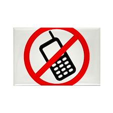 No Cellphones Rectangle Magnet