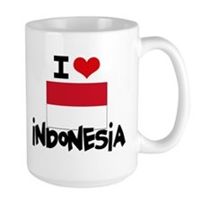 I HEART INDONESIA FLAG Mug