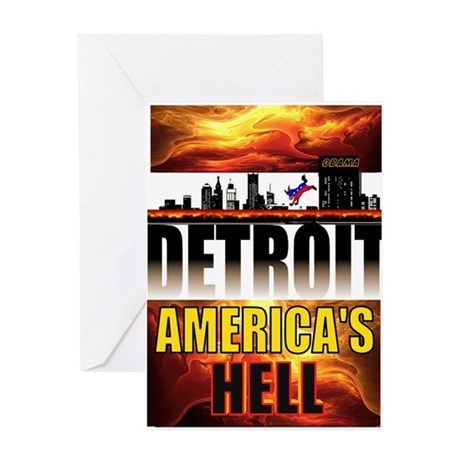 DETROIT HELL Greeting Card