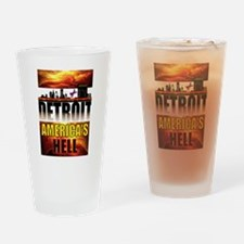 DETROIT HELL Drinking Glass