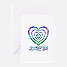 Crocheting Hearts Greeting Card