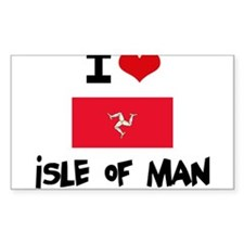 I HEART ISLE OF MAN FLAG Decal