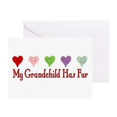Furry Grandchild Greeting Cards (Pk of 10)