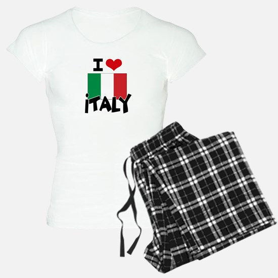 I HEART ITALY FLAG Pajamas