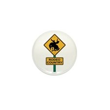 Rodeo Country Road Sign Mini Button (10 pack)