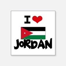 I HEART JORDAN FLAG Sticker