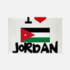 I HEART JORDAN FLAG Rectangle Magnet