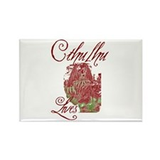 Cthulhu Lives Rectangle Magnet (10 pack)