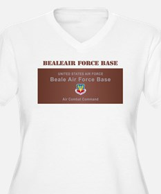 Beale Air Force Base with Text T-Shirt