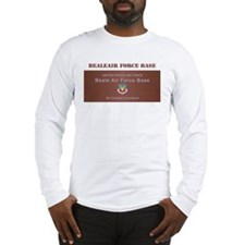 Beale Air Force Base with Text Long Sleeve T-Shirt