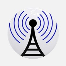 Radio Tower Signal Ornament (Round)