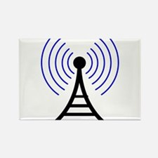 Radio Tower Signal Rectangle Magnet